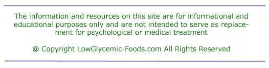 Disclaimer for LowGlycemic-foods.com