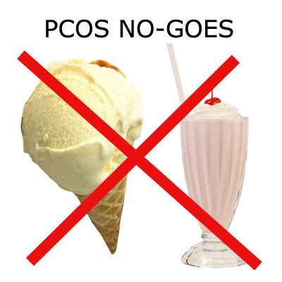 Some sugary dairy products like icecream and milkshakes should be avoided if you have PCOS